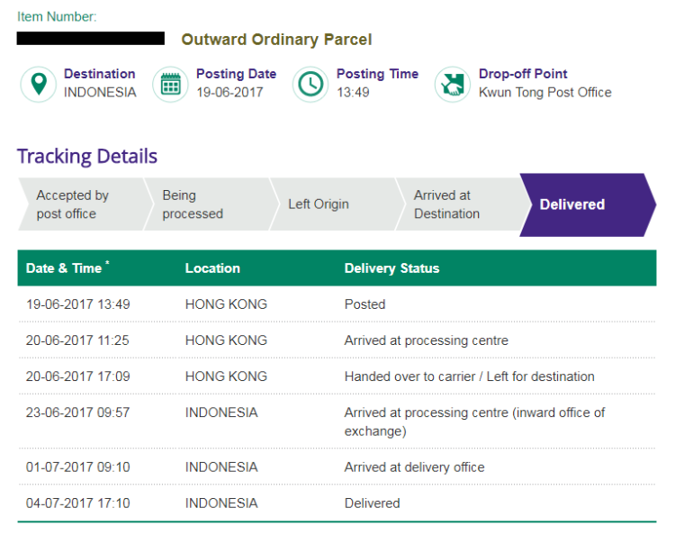hongkong post tracking