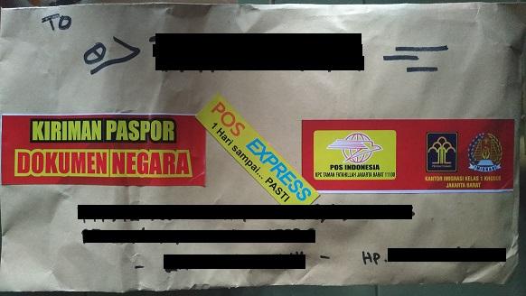 pos express, kirim passport