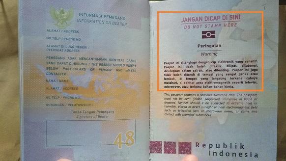 Warning E-passport