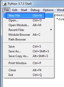 IDLE New File