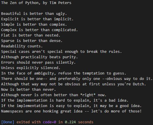 Zen of Python